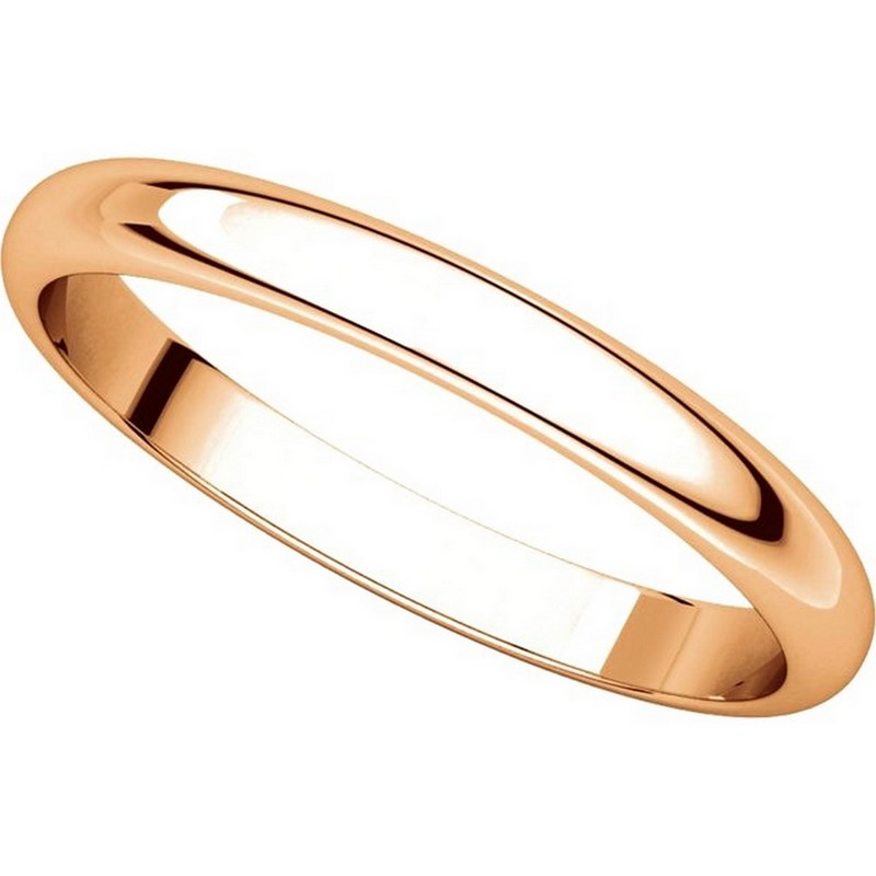 Item # S154002R View 4 - 14K Rose Plain Wedding Band 2.5mm Wide