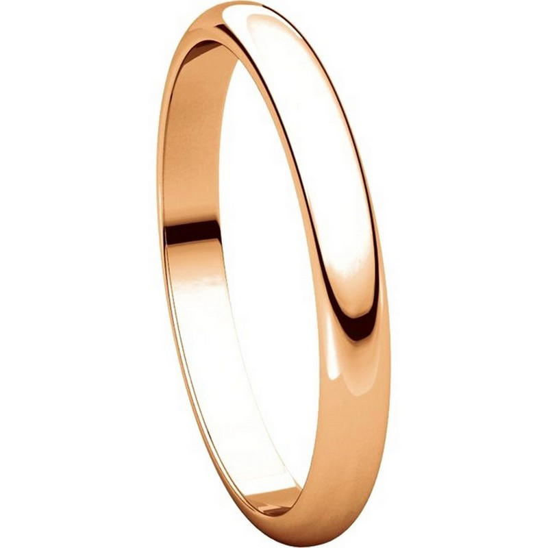 Item # S154002R View 5 - 14K Rose Plain Wedding Band 2.5mm Wide