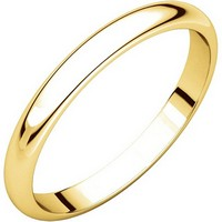 Item # S154002 - 14K Plain Wedding Band 2.5mm Wide