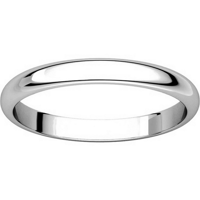 Item # S154002W View 3 - 14K White Gold Plain Band