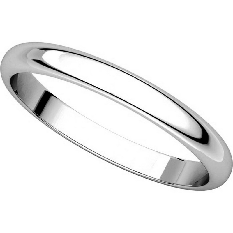 Item # S154002W View 4 - 14K White Gold Plain Band