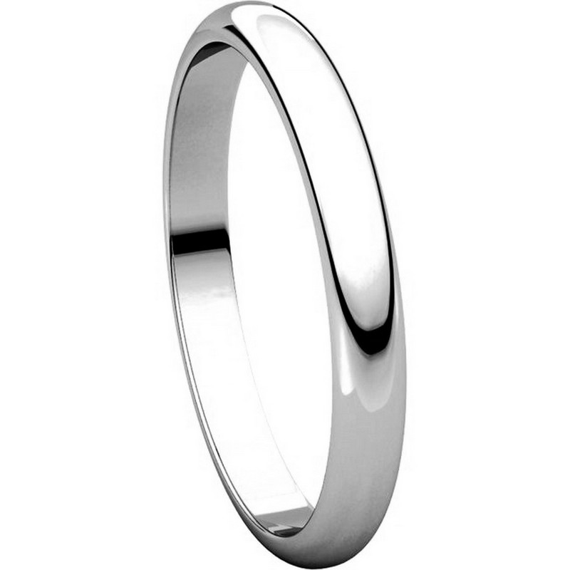 Item # S154002W View 5 - 14K White Gold Plain Band