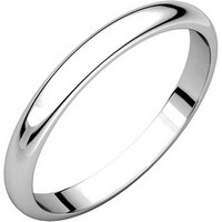 Item # S154002W - 14K White Gold Plain Band