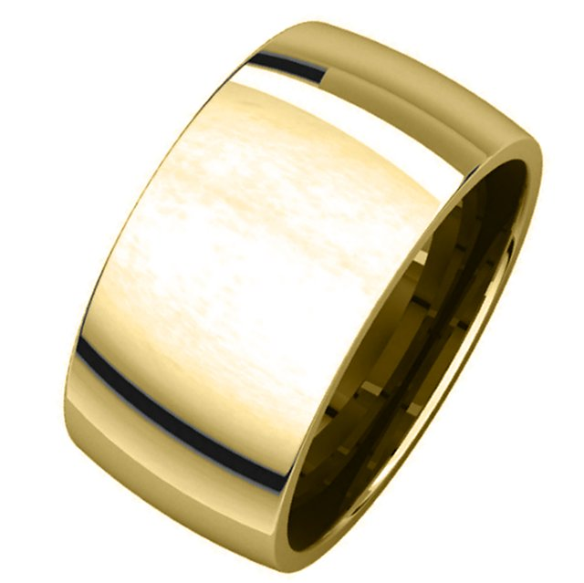 Item # S217932 - 14K yellow gold comfort fit , 10.0mm wide plain wedding band. The ring has a polished finish. Different finishes may be selected or specified.