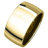 Item # S217932E - 18K 10.0mm Wide Plain Wedding Band