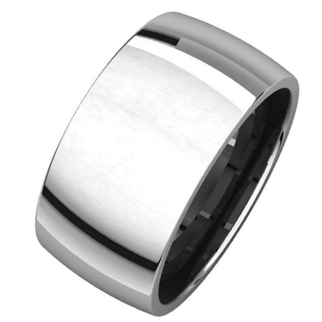 Item # S217932W - 14K white gold comfort fit , 10.0mm wide plain wedding band. The ring has a polished finish. Different finishes may be selected or specified.