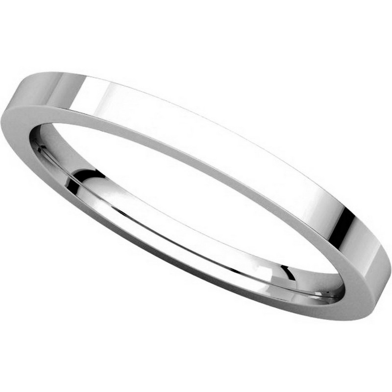 Item # S229561W View 4 - 14K White Gold Flat Wedding Band