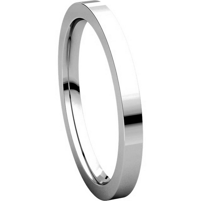 Item # S229561W View 5 - 14K White Gold Flat Wedding Band