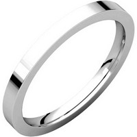 Item # S229561W - 14K White Gold Flat Wedding Band