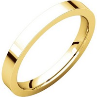 Item # S231376E - 18K Gold Comfort Fit Flat Band