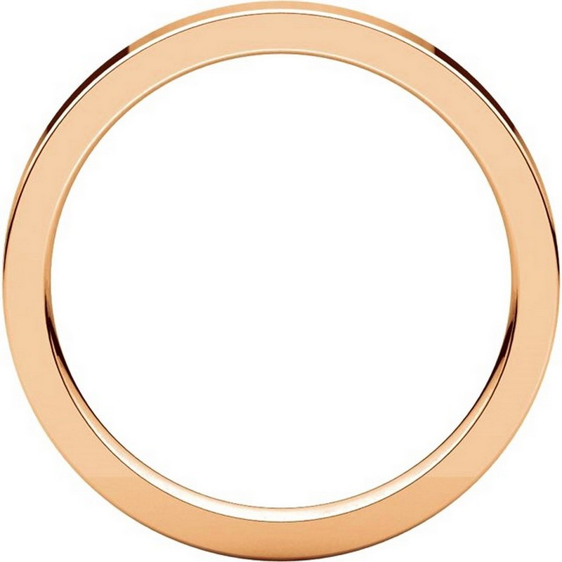 Item # S231376R View 2 - 14K Rose Gold Flat Comfort Fit Band