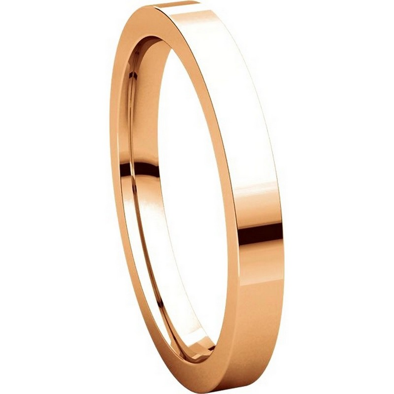 Item # S231376R View 5 - 14K Rose Gold Flat Comfort Fit Band