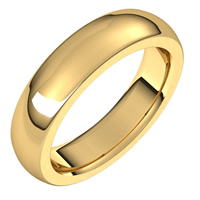 Item # s239667e - 18K Yellow Gold Heavy Comfort Fit Plain Wedding Band.
