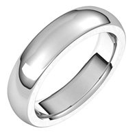 Item # S239667W - 14K White Gold Very Heavy Comfort Fit 5.0mm Wide Plain Wedding Band