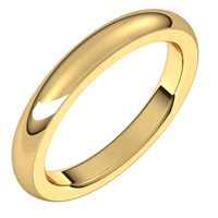 Item # S265565E - 18K Yellow Gold Very Heavy Comfort Fit 3.0MM Wedding Band