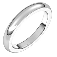 Item # s265565we - 18K White Gold 3.0MM Wide Very Heavy Comfort Fit Plain Wedding Band