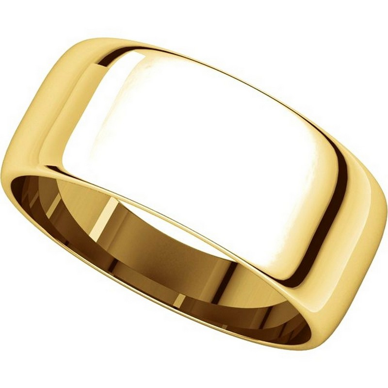 Item # S38457 View 4 - 14K Gold 8.0mm Wide Wedding Band
