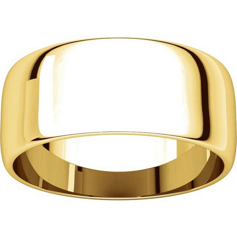 Item # S38457E View 3 - 18K Gold 8.0mm Wide Wedding Band