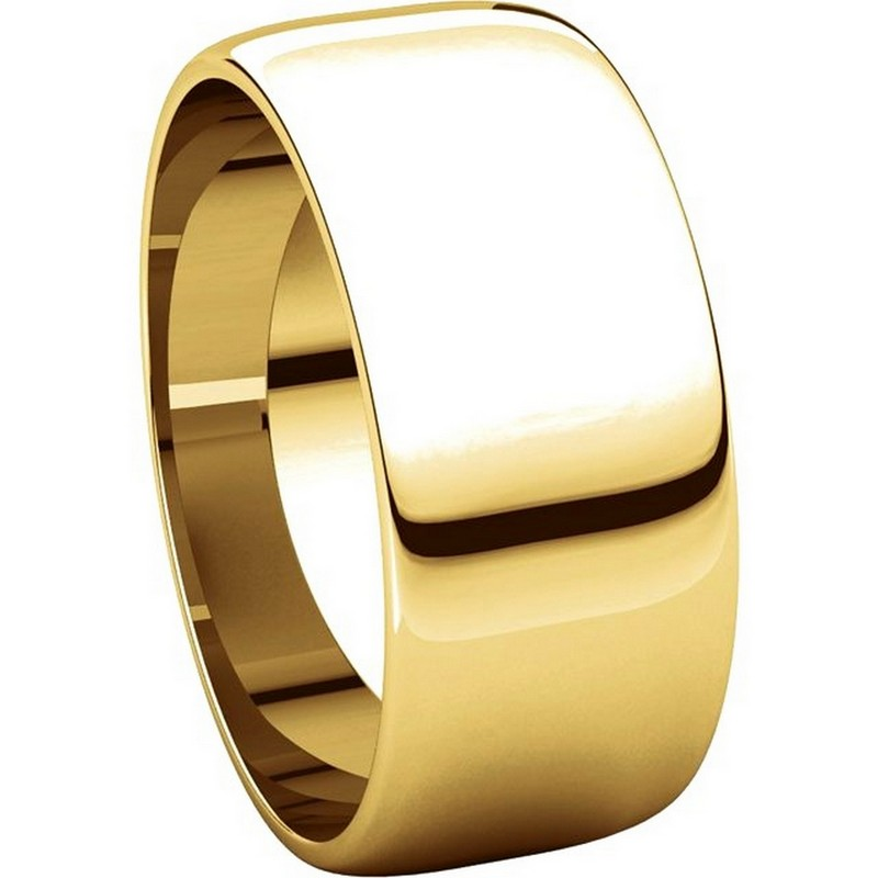 Item # S38457E View 5 - 18K Gold 8.0mm Wide Wedding Band