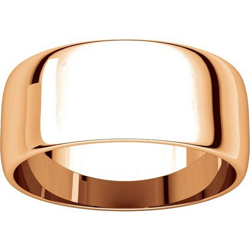 Item # S38457R View 3 - 14K Rose Gold 8.0mm Wide Wedding Band