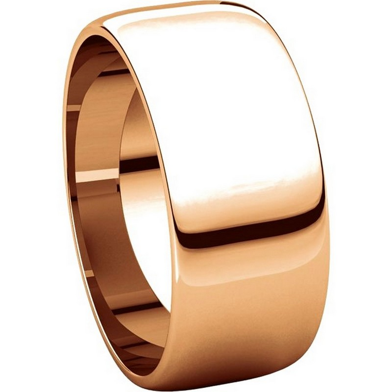 Item # S38457R View 5 - 14K Rose Gold 8.0mm Wide Wedding Band