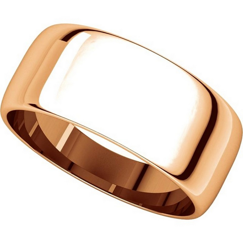 Item # S38457RE View 4 - 18K Rose Gold 8.0mm Wide Wedding Band