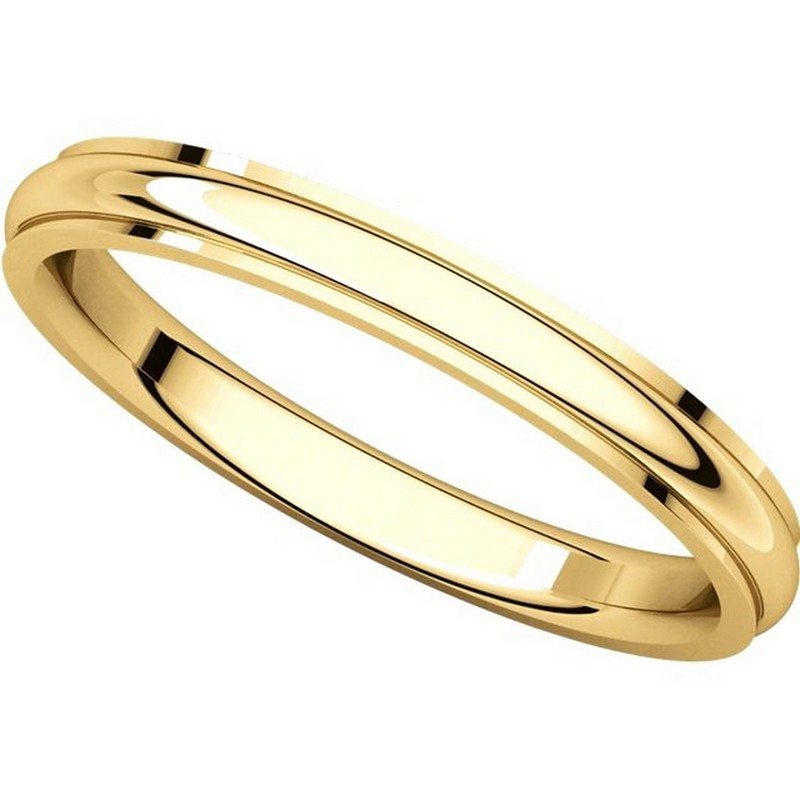 Item # S5780 View 4 - 14K Gold Edge Wedding Band