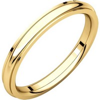 Item # S5780E - 18K Gold 2.5mm Comfort Fit Edge Band