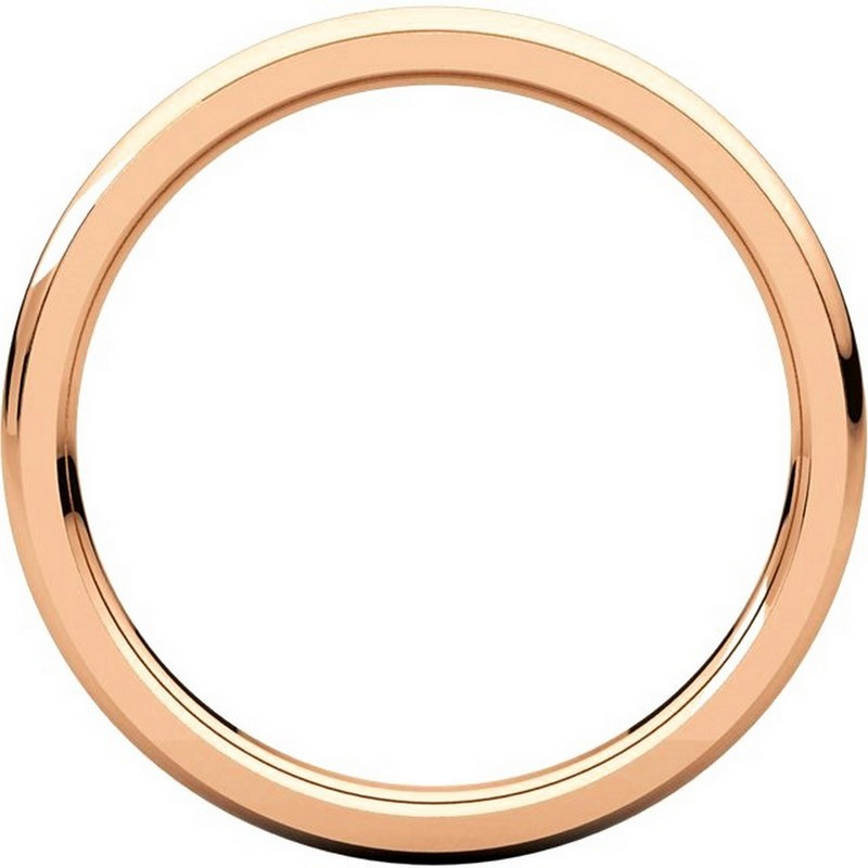 Item # S5780R View 2 - 14K Rose Gold 2.5mm Comfort Fit Edge Band
