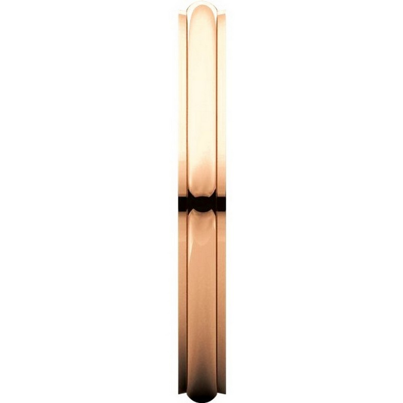 Item # S5780R View 3 - 14K Rose Gold 2.5mm Comfort Fit Edge Band