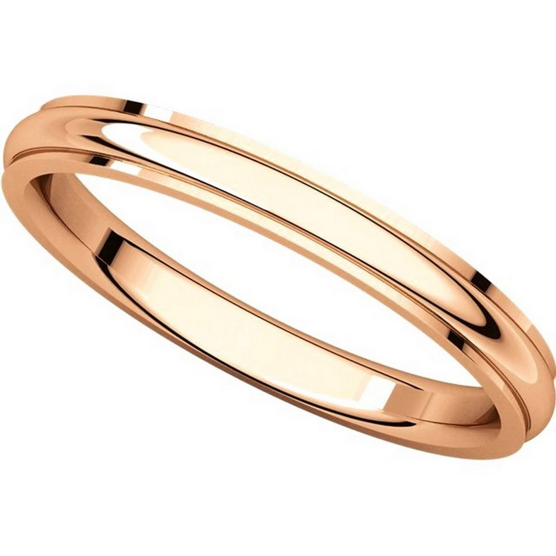 Item # S5780R View 4 - 14K Rose Gold 2.5mm Comfort Fit Edge Band