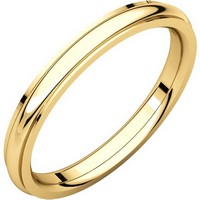 Item # S5780 - 14K Gold Edge Wedding Band