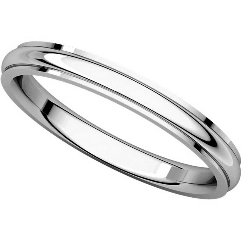 Item # S5780W View 4 - 14K White Gold 2.5mm Comfort Fit Edge Band