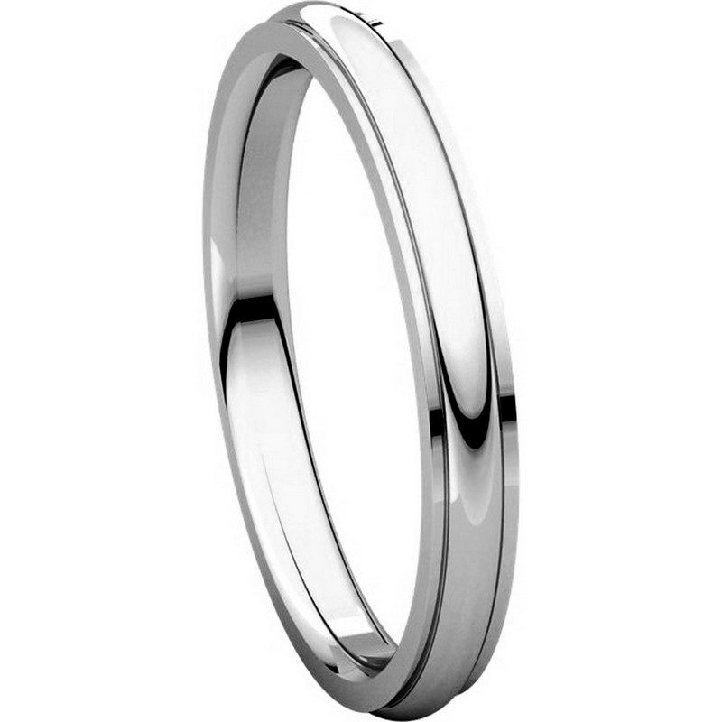 Item # S5780W View 5 - 14K White Gold 2.5mm Comfort Fit Edge Band