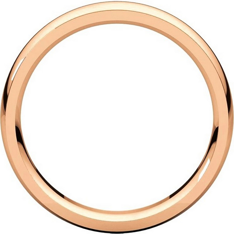 Item # S5810R View 2 - 14K Rose gold comfort fit 4.0 mm wide wedding band