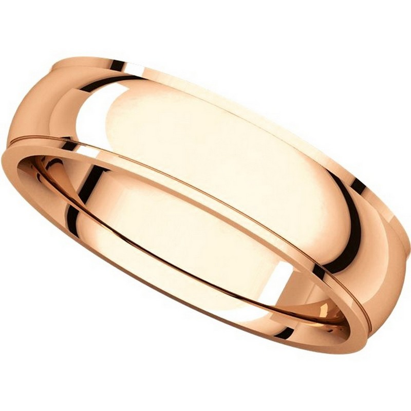 Item # S5810R View 4 - 14K Rose gold comfort fit 4.0 mm wide wedding band