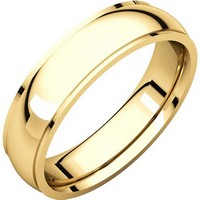 Item # S5810 - 14K gold comfort fit 4.0 mm wide Wedding Band comfort Fit Edge