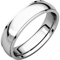 Item # S5810W - 14K white gold comfort fit 4.0 mm wide Wedding Band comfort Fit Edge