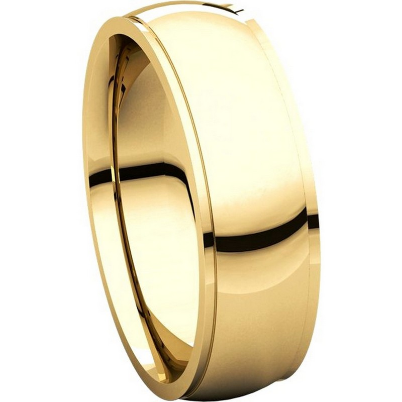 Item # S5880 View 5 - 14K Gold 8mm Wide Wedding Comfort Fit Band.