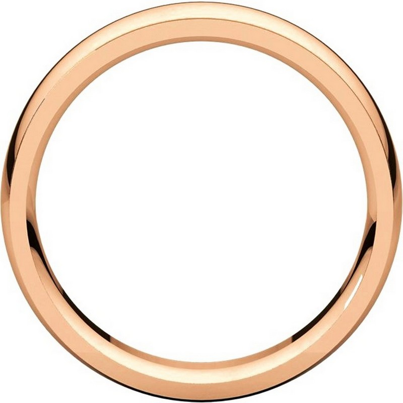 Item # S5880R View 2 - 14K Rose Gold 8mm Wide Wedding Comfort Fit Band.