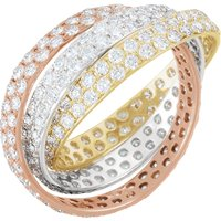 Item # S658504E - 18K Three Band Rolling Diamond Eternity Band