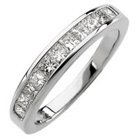 Item # S67858W - 14K Princess Diamond Anniversary Ring