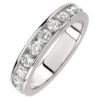 Item # S68537W - 14K Anniversary Ring 14K White Gold