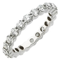 Item # S71140WE - 18K Gold Diamond Eternity Ring