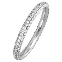Item # S74046W - 14K White Gold Diamond Eternity Ring