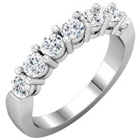 Item # S74425W - 14K White Gold Anniversary Band