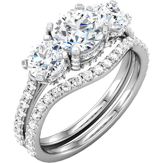 Item # S74582AW View 4 - 14K 2.0ct Diamond Engagement Ring