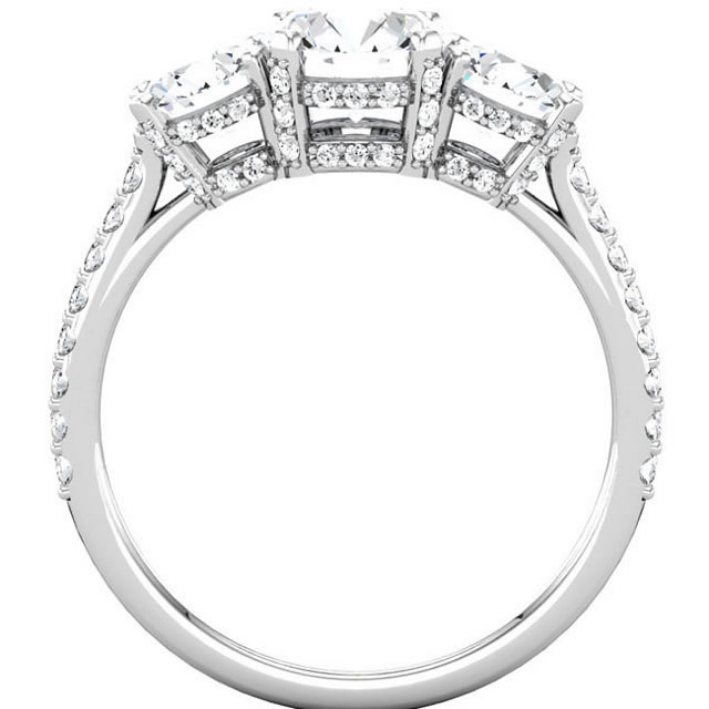 Item # S74582AW View 2 - 14K 2.0ct Diamond Engagement Ring