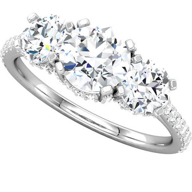 Item # S74582AW View 3 - 14K 2.0ct Diamond Engagement Ring
