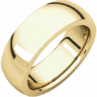 Item # s7685 - 14K Yellow Gold Very Heavy Comfort Fit 7.0mm Wide